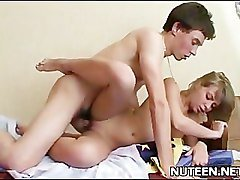 Attractive teen getting penetrated