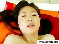 Japanese eighteen year old gets a facial