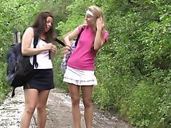 sporty young dutch lesbians in nature