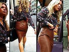 candid leather (leather pencil skirt)