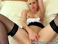 british milf tracey lain loves dildoing in maid uniform
