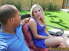 Blonde teen sucking bbc