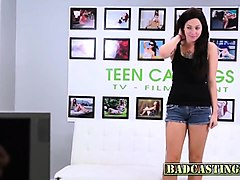 brunette teen skyla wants to be a model
